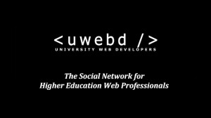 uwebd - the social network for higher education web professionals