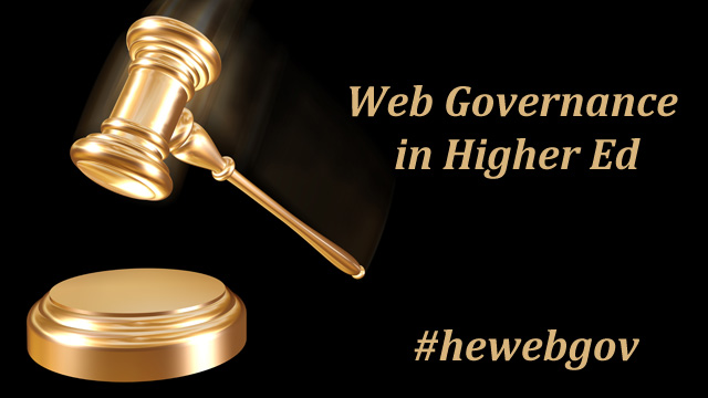 Web Governance in Higher Education